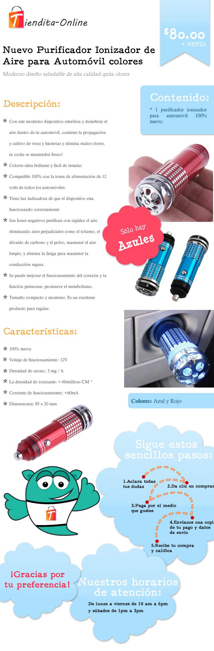 Circuito Ionizador De Aire : Purificador ionizador de aire para automóvil azul y rojo